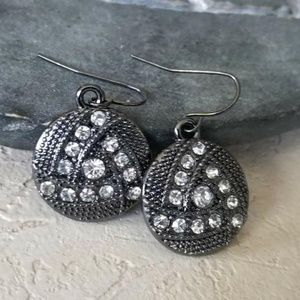 Avant Garde Gunmetal Swarovski Crystal Earrings